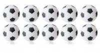 Kickerball Winspeed by Robertson 35 mm, weiß / schwarz 10er Set