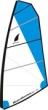 Beachrunner Competition Segel 5,5m² Nur Air, Masttasche nur in Grau