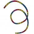 Tube Tail Rainbow Spiral 6 m
