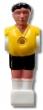 Kickerfigur Profi Soccer Deluxe schwarz/gelb