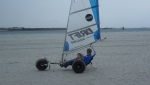 Strandsegler Micro Race Pro 3.5 schwarz, segelfertig