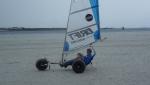 Strandsegler Micro Race Pro 5.5 schwarz, segelfertig
