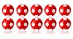 Kickerball Winspeed by Robertson 35 mm, rot / weiß 10er Set